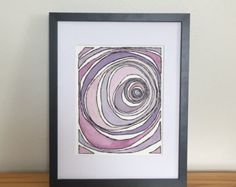 Abstract watercolor, abstract wall art, Abstract painting, Original watercolor, Original abstract, Purple abstract, Purple watercolor