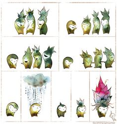 don't be sad little sproutling illustration by emma sancartier