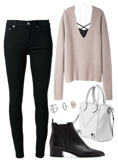 """""""Untitled #1485"""" by susannem ❤ liked on Polyvore featuring Acne Studios, BLK DNM and Topshop"""