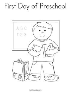 First Day of School Coloring Worksheets Kindergarten and School