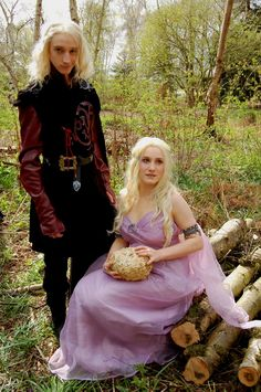 Game of Thrones: Viserys and Daenerys Targaryen by ~GoldenMochi on deviantART   his face is perfect!
