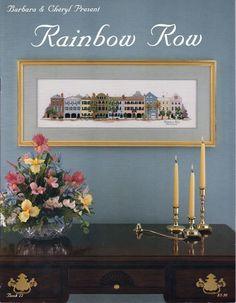 "Vintage Barbara & Cheryl Present ""Rainbow Row"" Cross Stitch Booklet #22 #BarbaraCheryl"