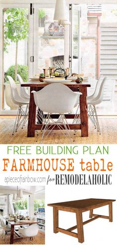 Add some rustic style to your home with this gorgeous farmhouse dining table. A detailed building plan makes it easy to build and enjoy!