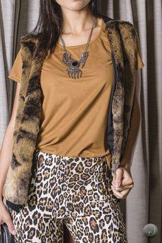 #debrummodas #inverno #calça #animalprint #colete #flare  #style #estilo #moda #fashion #modafeminina