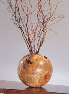 Burl Wood Vase