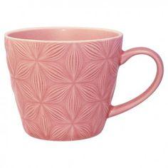 Tazza Mug Kallia by Greengate realizzata in porcellana sui toni del rosa. Ideale in abbinamento con altre stoviglie a tinta unita e non.