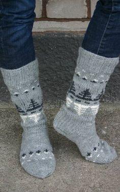 Nordic Yarns and Design since 1928 Wool Socks, My Socks, Knit Mittens, Knitting Socks, Hand Knitting, Knitting Patterns, How To Start Knitting, Knitting Videos, Bunt