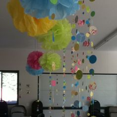 Paper garland and tissue balls
