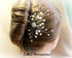 Bridal+Comb+Ivory+Pearls+Hair+Piece+Wedding+by+Like2Accessorize,+$28.00