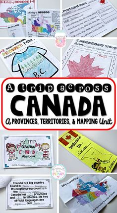 Proud to be Primary's A Trip Across Canada ~ Canadian Province, Territories, & Mapping social studies unit. Teach your students about the 13 Canadian province and territories and about Canadian geography and mapping! Social Studies Activities, Teaching Social Studies, Educational Activities, Canada For Kids, Canada 150, Canadian Social Studies, Province Du Canada, Geography For Kids, Geography Of Canada