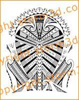 samoan shoulder tattoo SBW design