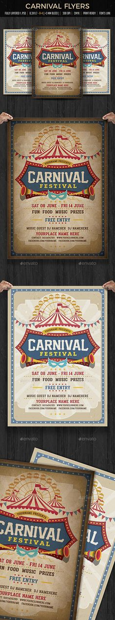 Funfair & Carnival Flyer Template PSD