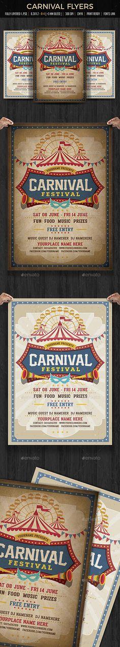 Funfair & Carnival Flyer Template PSD