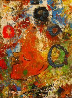 """Abstraktes Bild auf Leinwadn """"Träumerle"""" Painting, Art, Abstract Pictures, Painting Abstract, Art Background, Painting Art, Kunst, Paintings, Performing Arts"""