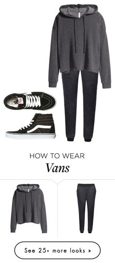 Polyvore featuring H&M & Vans