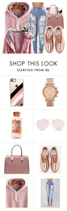 """""""SheIn"""" by kayla77johnson ❤ liked on Polyvore featuring Casetify, FOSSIL and !iT Collective"""