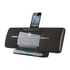 NEW PYLE FLAT PANEL MOTORIZED VERTICAL iPOD iTOUCH iPHONE FM CD STEREO SYSTEM
