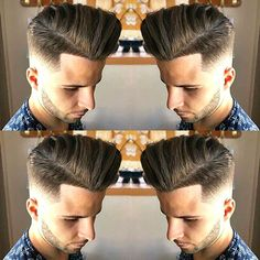 Barbershop Haircut Styles - Low Fade and Shape Up with Long Pompadour