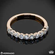Rose Gold Verragio Shared-Prong Diamond Wedding Ring Rose Gold Verragio Shared-Prong Diamond Wedding Ring from the Verragio Insignia Collection.Rose Gold Verragio Shared-Prong Diamond Wedding Ring from the Verragio Insignia Collection. Stackable Diamond Rings, Round Diamond Ring, Diamond Wedding Rings, Gold Wedding, Wedding Band, Diamond Bands, Black Gold Jewelry, Yellow Gold Rings, Gold Gold