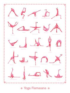 Pink Flamingo yoga poster 18 x 24 by AmelieLegault on Etsy