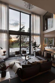 Modern Home Interior Design, Dream Home Design, Modern House Design, Luxury Interior, Interior Design Living Room, Living Room Designs, Living Rooms, Architecture Design, Modern Architecture House