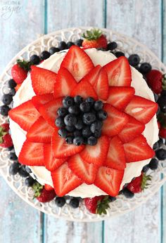 Fresh Berry Vanilla Layered Cake - layers of moist vanilla cake flavored with pureed strawberries and blueberries, layered with fresh berries and whipped cream! Vanilla Layer Cake Recipe, Moist Vanilla Cake, Layer Cake Recipes, Halloween Cookie Recipes, Halloween Cookies Decorated, Spooky Halloween, Halloween Treats, Halloween Party, Bolo Nacked
