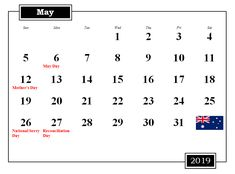 107 Best Free May 2019 Calendar Printable Templates images