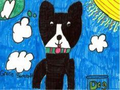 Black Dog Square 1 Art, Lesson Plans, How To Plan, Dog, Pets, Black, Diy Dog, Black People, Lesson Planning