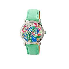Bertha Didi Womens Mother Of Pearl Dial Mint Green Leather Strap Watch Bthbr2806