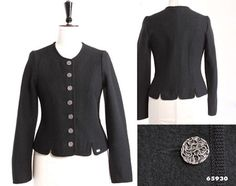 ebecbb4aabe80 Geiger of Austria 65930 Woman`s Dirndl Walk Jacket in CHARCOAL   I once had  a similar boiled wool jacket in navy