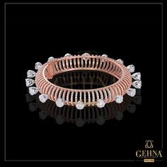 The exquisite craftsmanship of our Rose Gold and Diamond Bangle is perfect for when you want to make a show-stopping statement. Diamond Bracelets, Metal Bracelets, Diamond Jewelry, Bangle Bracelets, Gold Jewelry, Bangles, Bracelet Watch, Jewellery, Sea Glass Jewelry