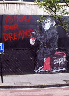 street art by Mr Brainwash - London. 000   #iLA The Mobile App that pays in so many ways.http://ibourl.com/1dnr #inspiringcarlos #personaldevelopment