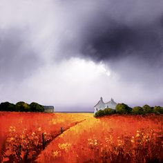 Sunlight and Storm Clouds [Barry Hilton-A050] - $500.00 painting by oilpaintingsartmaker.com
