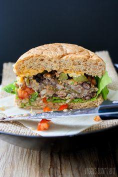 The Ultimate Mexican Nacho Burger- Veggies Don't Bite