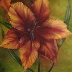 ORIGINAL PAINTING  Beautiful 40x30 Lillies on by ArtByDoodles, $125.00