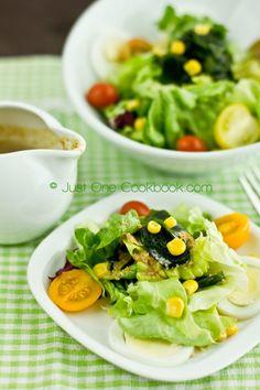 Salad with Japanese Sesame Dressing | Easy Japanese Recipes at JustOneCookbook.com