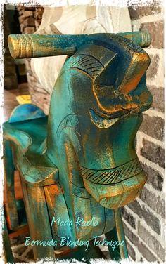 Bermuda Blending Rocking Horse! By María Revollo.. Creator..