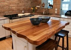 Home-Dzine - Solid wood countertops for kitchens
