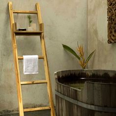 "Found it at Wayfair.ca - Freestanding Towel Ladder_64"" H x 18"" L x 2"" D_$232"
