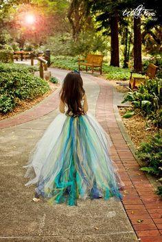 Peacock Flower Girl Dress. Absolutely love this.