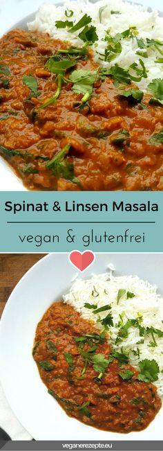Mal wieder was für die Seele. Spinat & Linsen Masala das glücklich macht. #vegan #glutenfrei #linsen #rezept #masala #spinat #indisch #vegetarisch