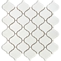 SomerTile 12.5x12.5-in Morocco 2.5-in White Porcelain Mosaic Tile (Pack of 10) | Overstock.com