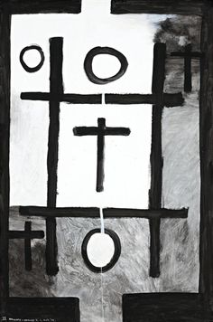 Colin McCahon, NOUGHTS AND CROSSES, SERIES 2, NO. 2