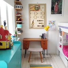 Bright, shared kid space (small spaces)