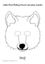 Little Red Riding Hood role-play masks - black and white (SB8738) - SparkleBox, color ones are also available