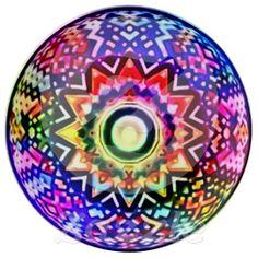 Chakra Healing Mandala Porcelain Plate