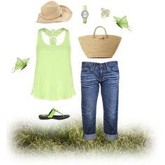 Summertime Greens by izjustagirl on Polyvore