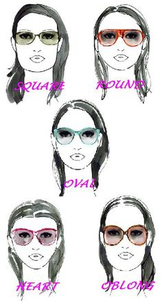 Eyewear for different face shapes. Dress For Body Shape, Personal Image, Square Faces, Face Shapes, Body Types, Fashion Advice, Style Guides, Eyeglasses, Beauty Hacks