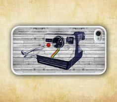 iPhone 4 Case, iPhone 4s Case, iPhone Case - Vintage Polaroid Camera iPhone Hard Case, pattern print iPhone Hard Case. $8.99, via Etsy.