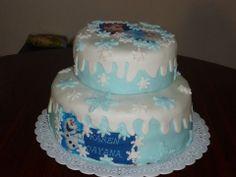 Torta Frozen de Vainilla y crema de chocolate!